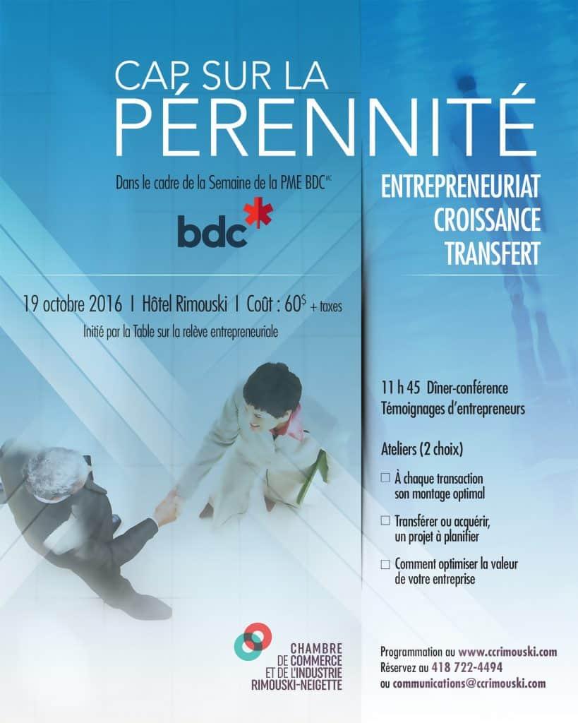 Cap sur la pérennité : Entrepreneuriat, Croissance, Transfert