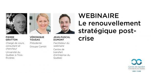 Webinaire :  Le renouvellement stratégique post-crise