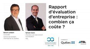 rapport d'évaluation de la valeur d'une entreprise