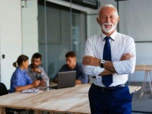 chef d'entreprise partant à la retraite