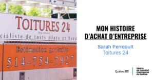 Sarah Perreault, co-propriétaire de Toiture 24
