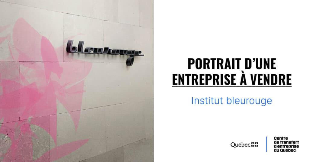Portrait d'une entreprise à vendre : Institut bleurouge